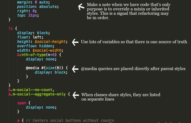 Here are some good habits when writing your Sass files: