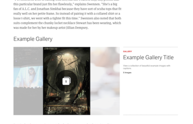 Smaller Gallery with Title