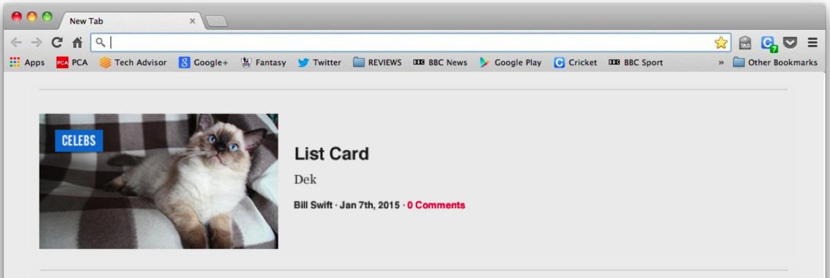 List card