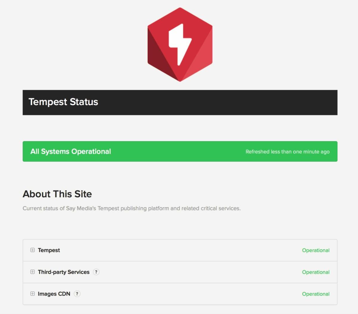 Tempest Status